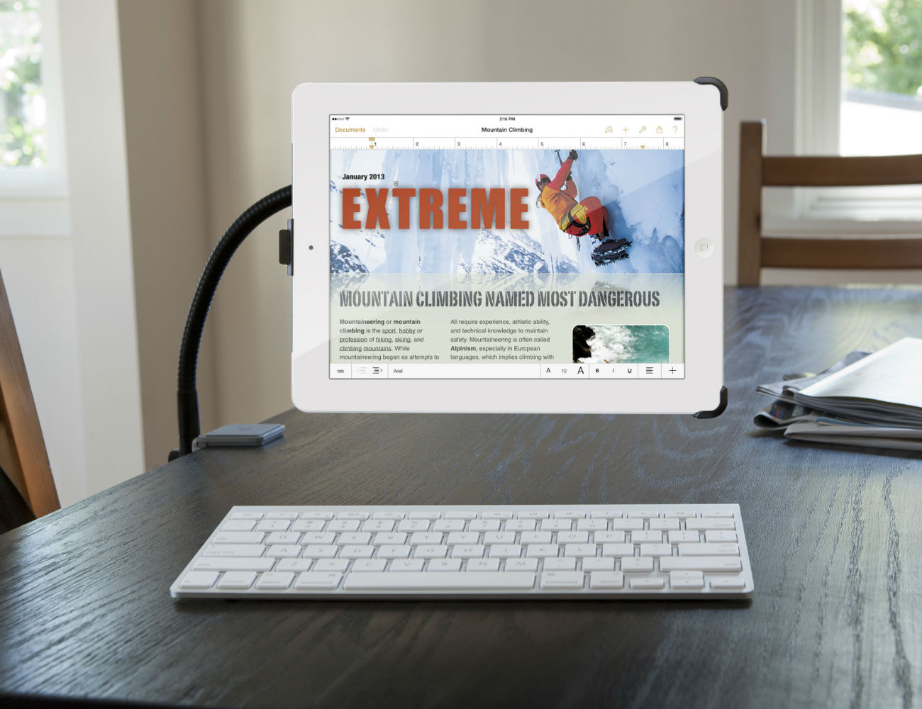 HoverBar Adjustable Arms for iPad by Twelve South