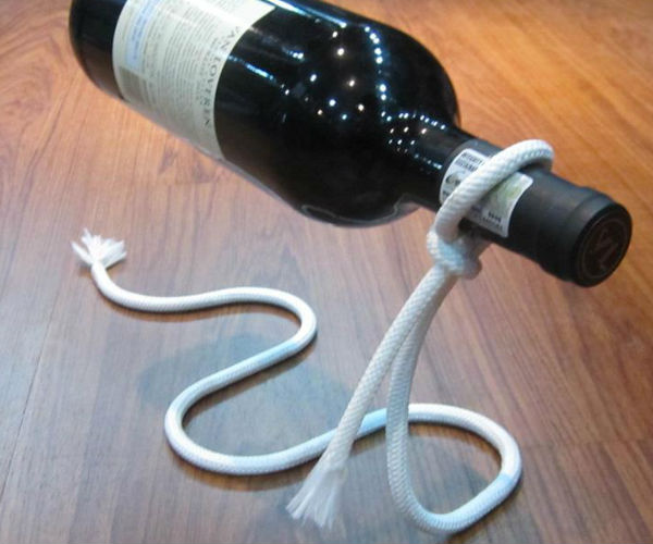 Magic Lasso Rope Wine Bottle Holder