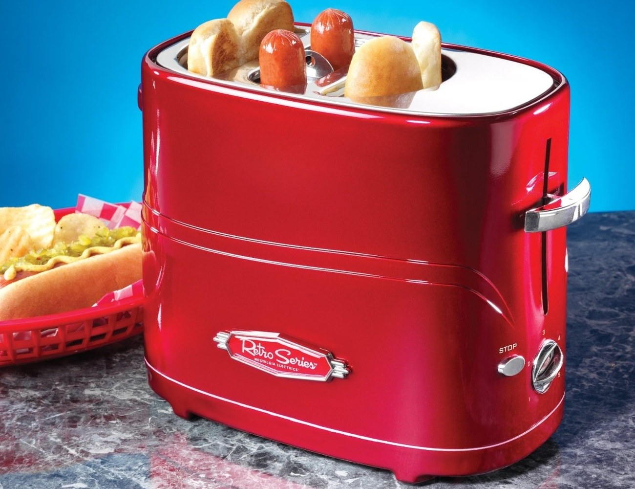 Retro Series Pop Up Hot Dog Toaster