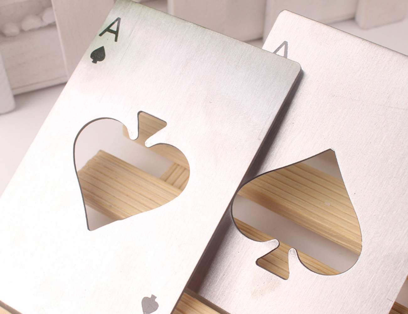 Steel Playing Card Bottle Opener is more than meets the eye