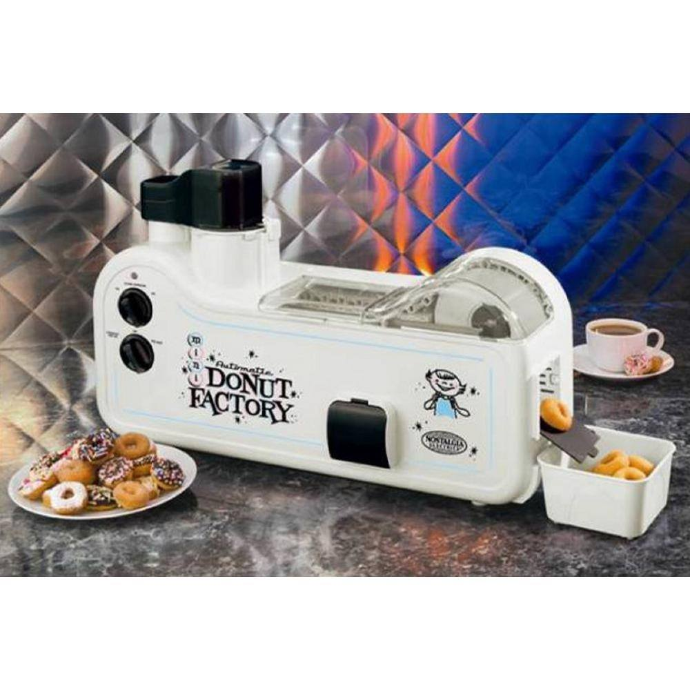 Automatic Doughnut Factory: Automatic Mini Donut Factory By Nostalgia Electrics