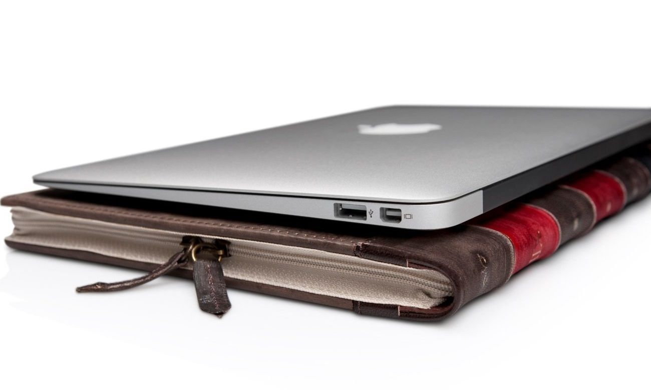 Macbook Air Book Leather Case