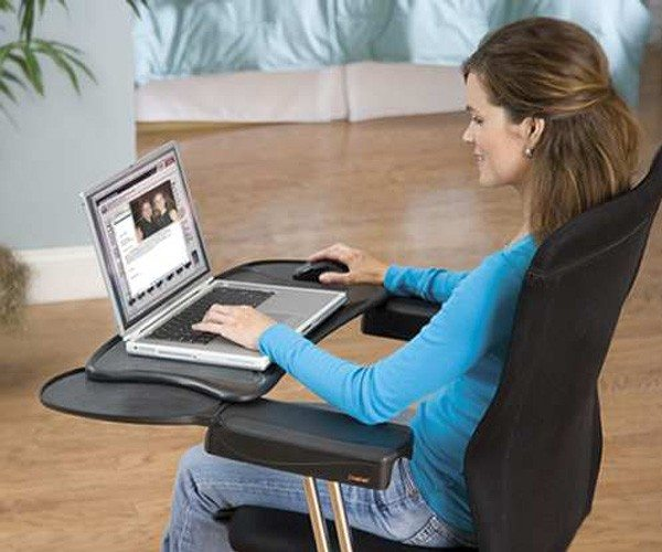 Mobo Computer Station Ergonomic Chair Mount Keyboard Tray