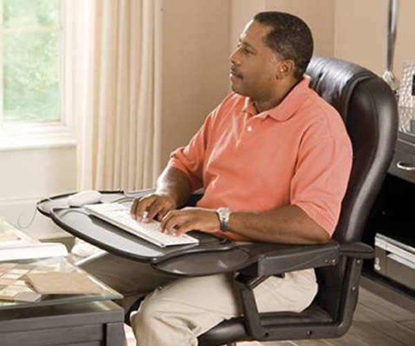 Exellent Computer Chair With Keyboard Tray Station Ergonomic Mount For Decor