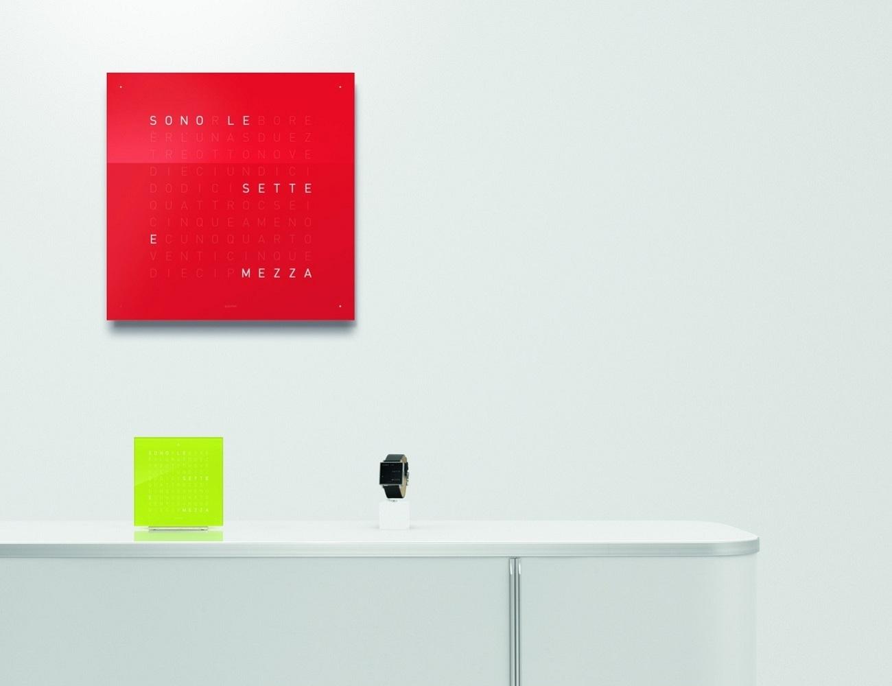 Qlock Two Wall Clock » Gadget Flow