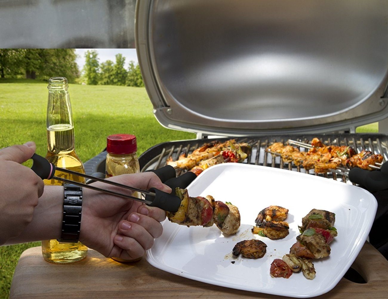 Quirky 14-inch Slide and Serve Skewers