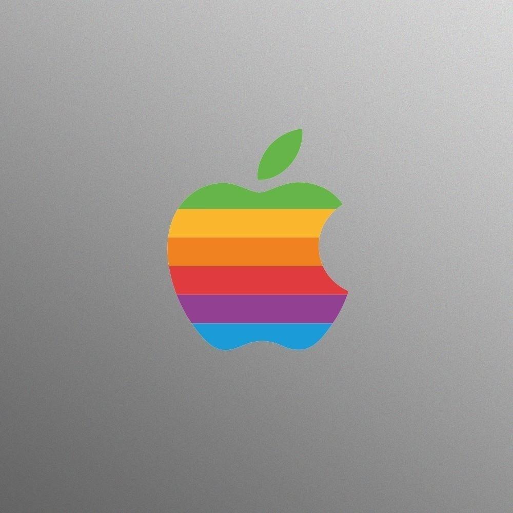 Retro apple logo sticker