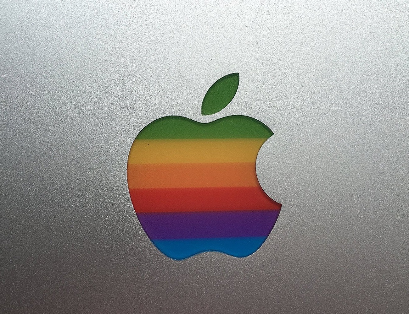 retro apple logo sticker gadget flow
