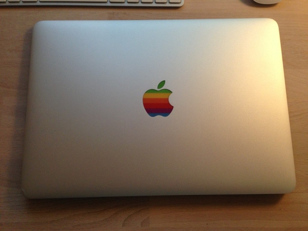 Retro Apple Logo Sticker