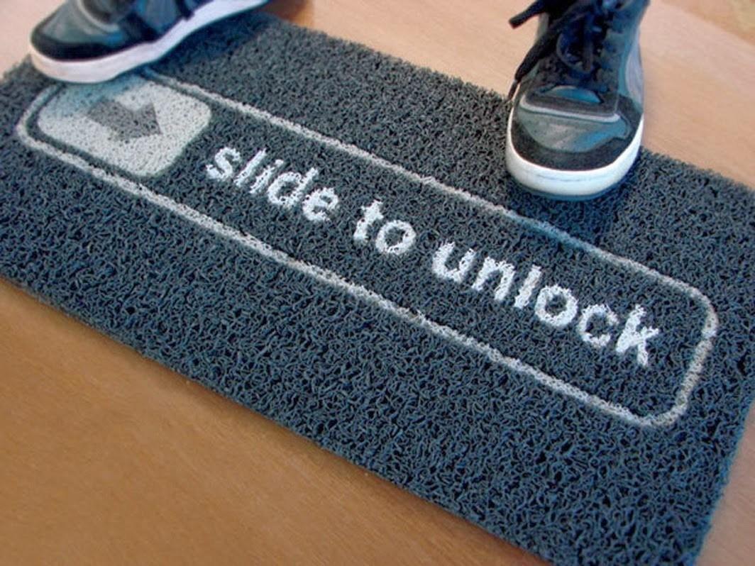 Slide+To+Unlock+Doormat