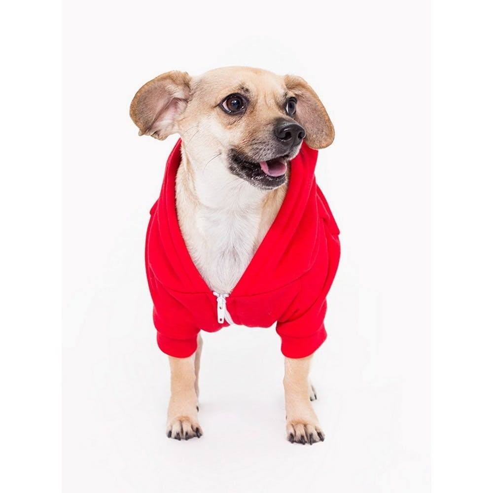 Flex Fleece Dog Zip Hoody by American Apparel