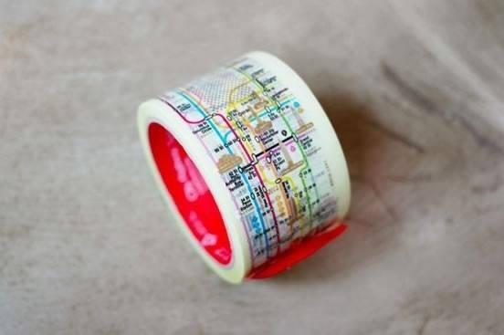 Manhattan Subway Map Tape