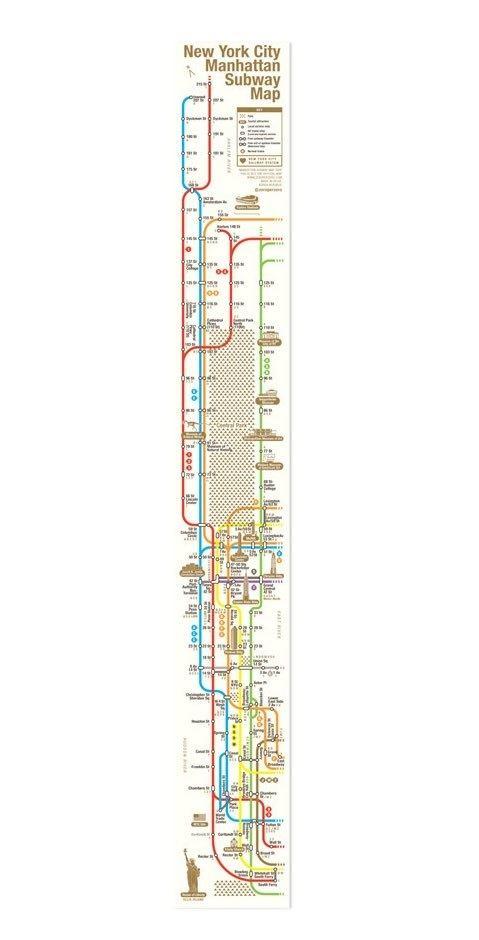Subway Map Manhatten.Manhattan Subway Map Tape