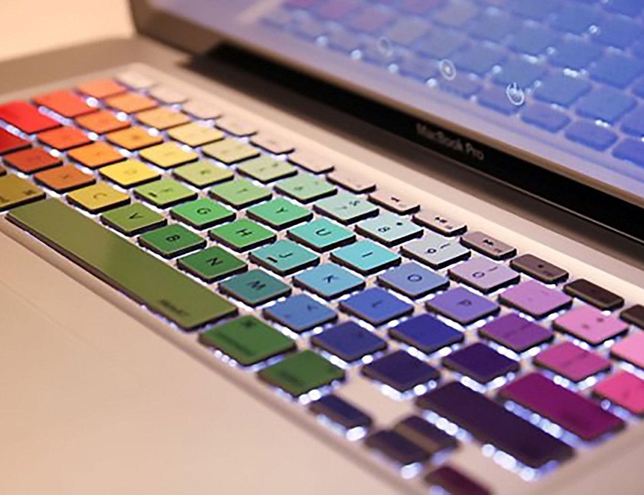 Rainbow MacBook Keyboard Decals