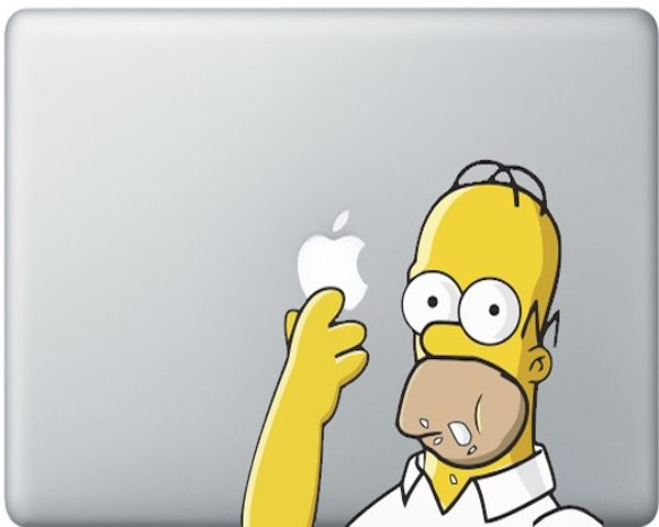 Simpson+Decal+For+MacBook