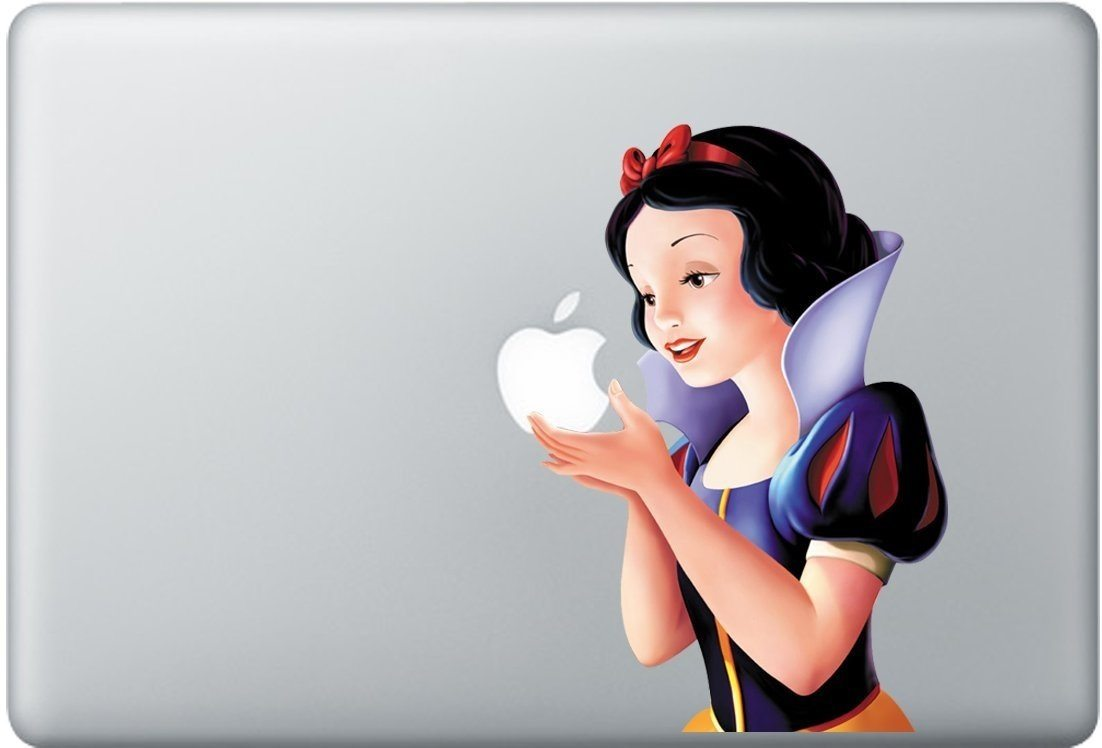 Snow White Macbook Decal