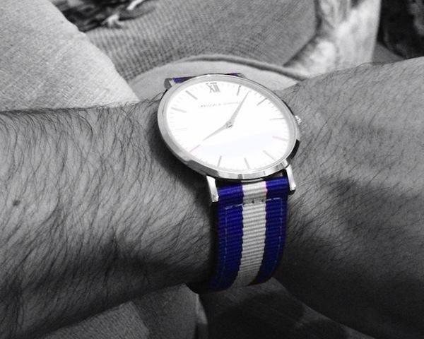 Vasa Silver & White Watch by Larsson & Jennings