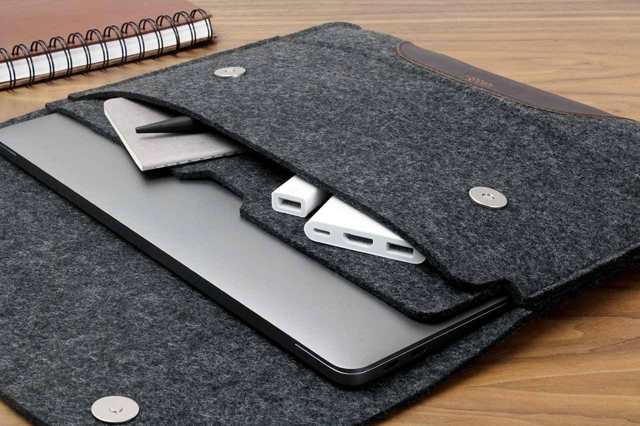 Wool MacBook Sleeve by Pack & Smooch