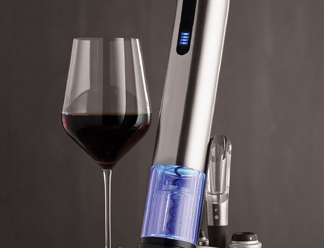 Electric Push-Button Corkscrew