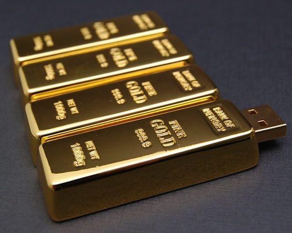 Gold Brick USB Drive