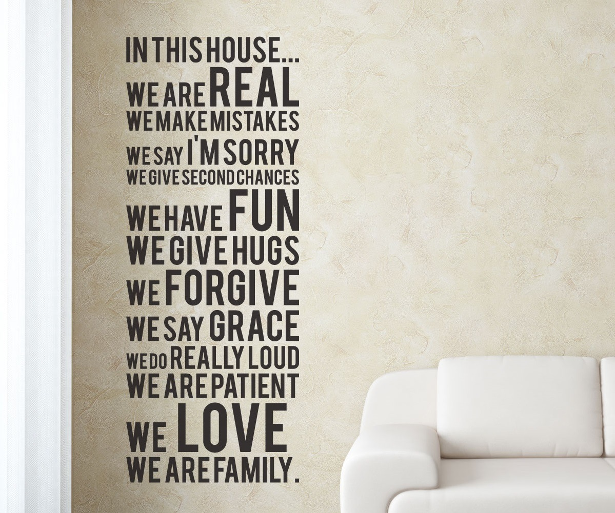 in this house vinyl wall sticker 187 gadget flow in this house quotes wall decal family vinyl art stickers