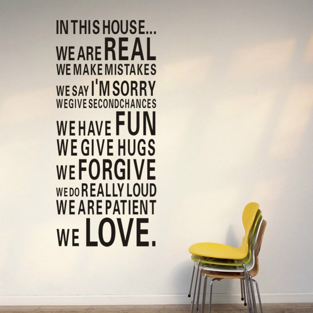Attractive ... In This House Vinyl Wall Sticker Great Pictures