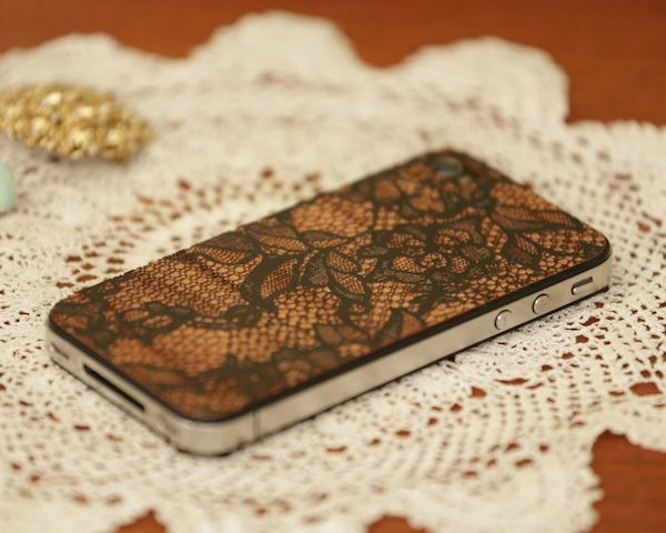 Lace iPhone Cover In Black By LazerWood
