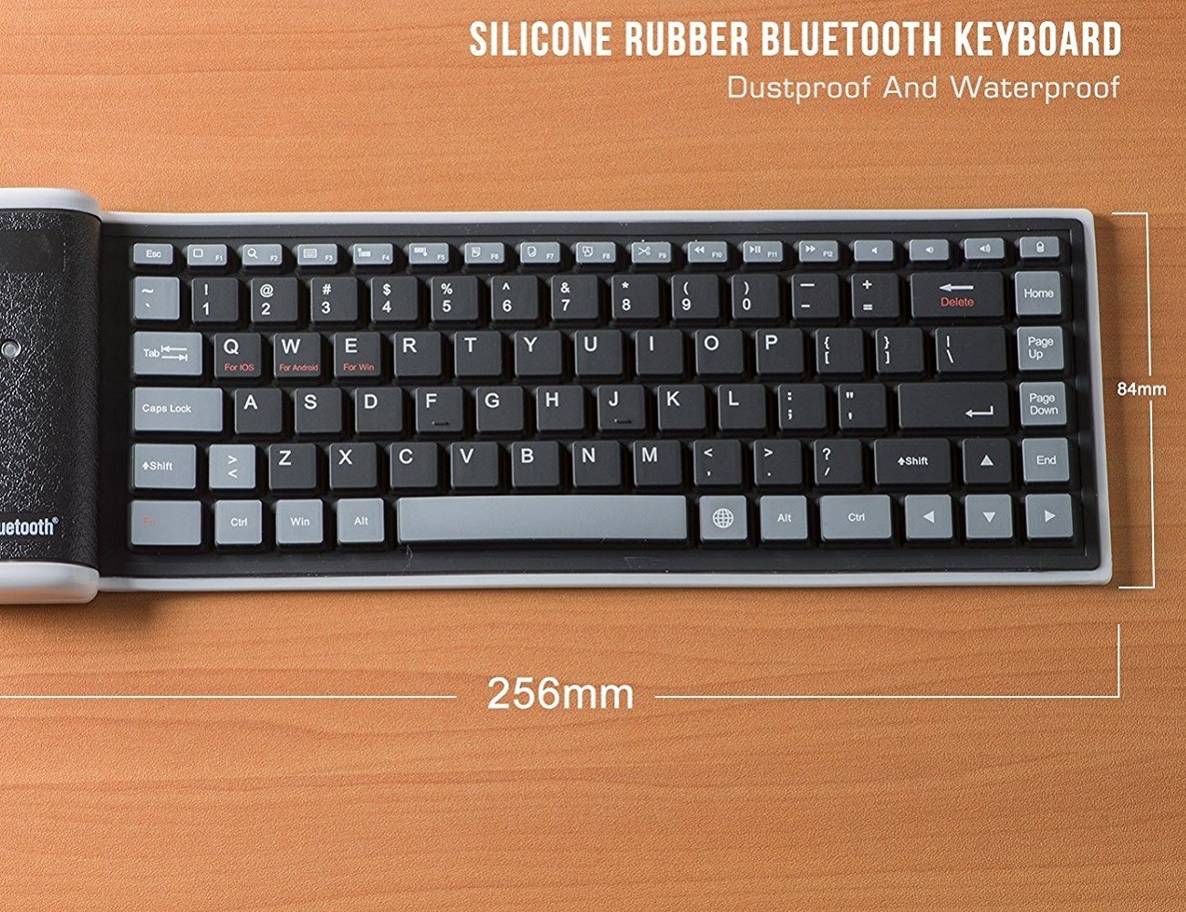 Roll Up Washable Bluetooth Keyboard