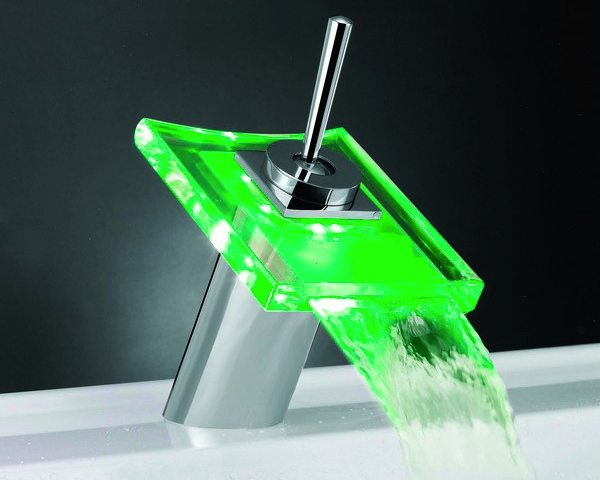 Temperature sensitive led faucet gadget flow Temperature sensitive glass