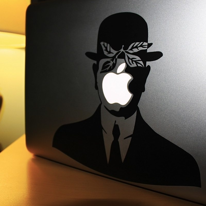 Rene+Magritte+MacBook+Decal
