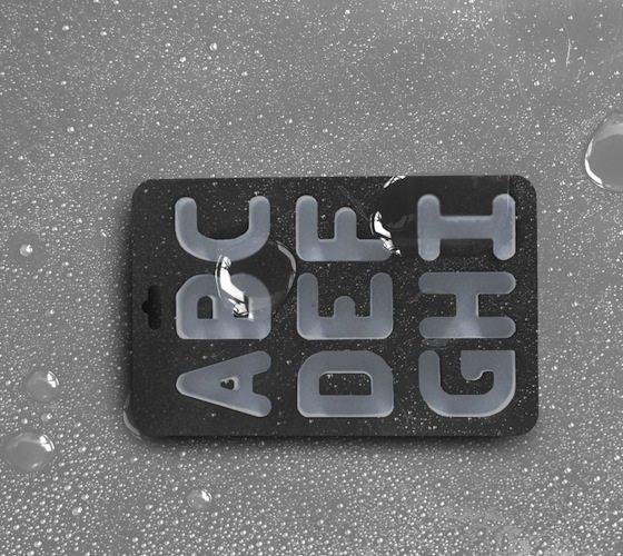 Alphabet Ice Cubes