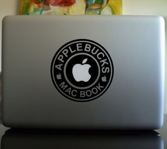 Apple Bucks Macbook Decal