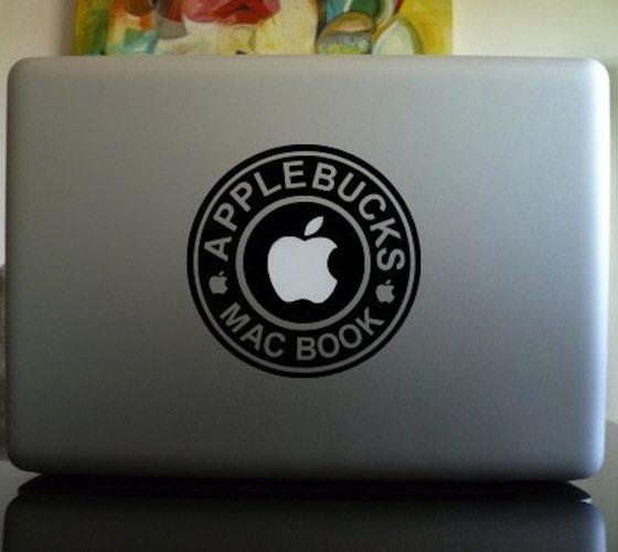 Apple Bucks Macbook Decal