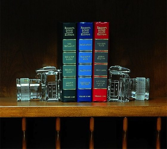 Crystal DSLR Bookends