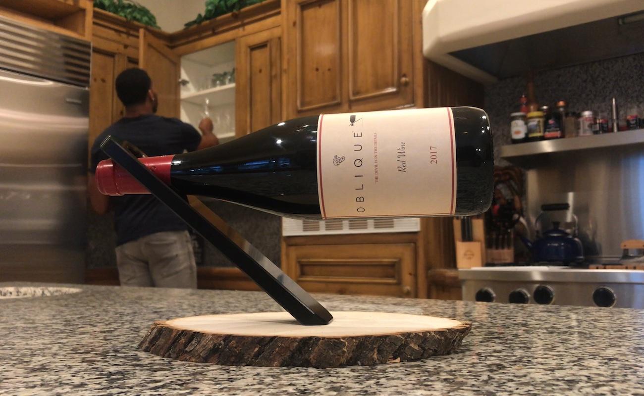 Oblique Wine Bottle Holder