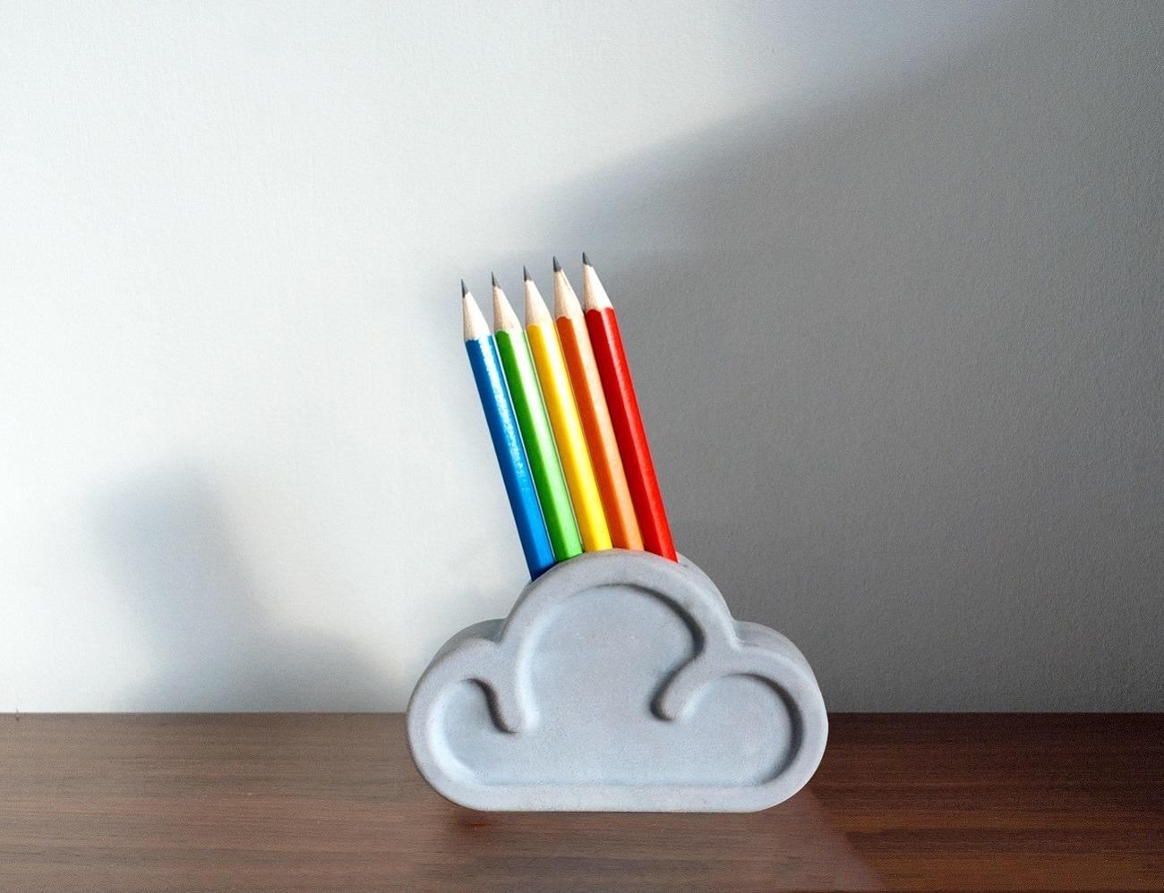Cloud Pencil And Eraser Set