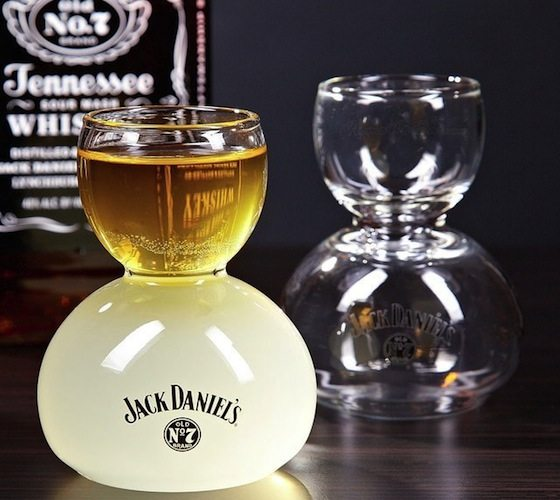 Jack Daniel's Whiskey on Water Glasses