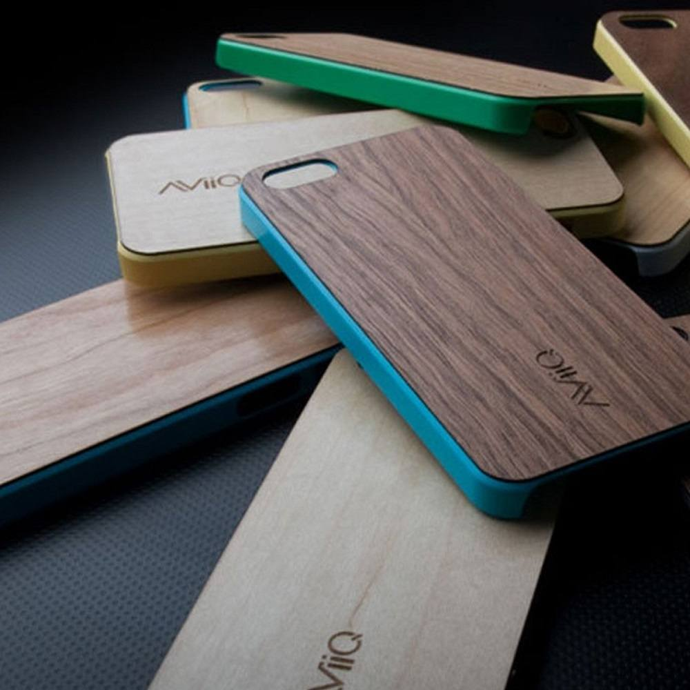AViiQ+Thin+Wood+Trim+Case+For+IPhone+SE%2F5s
