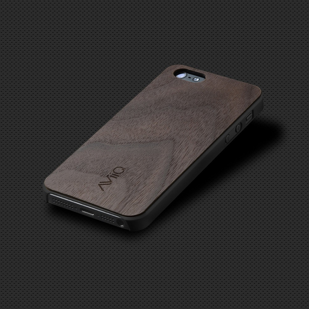 AViiQ Thin Wood Trim Case for iPhone SE/5s