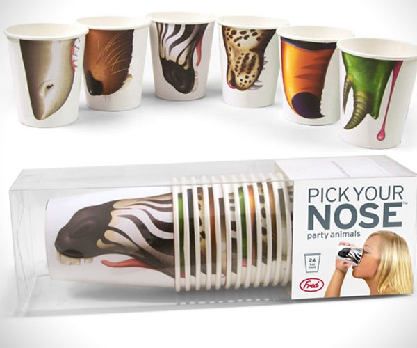 Fred and Friends Pick Your Nose Animal Cups