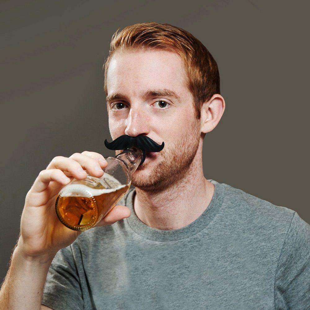 Beer Bottle Mustache