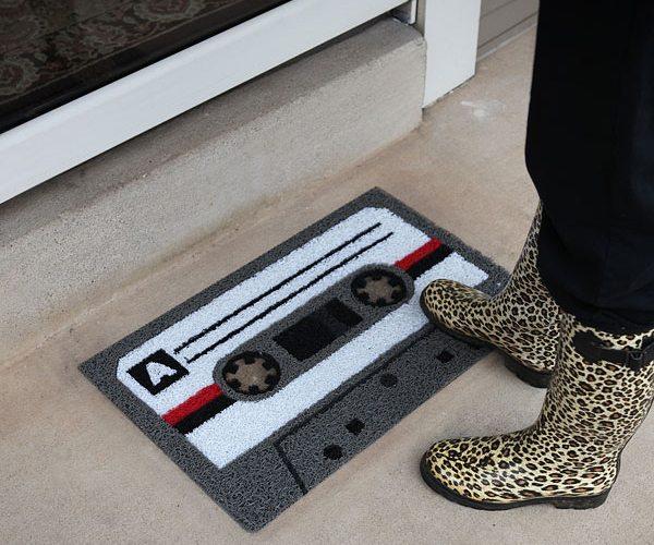 Cassette Tape Welcome Mat