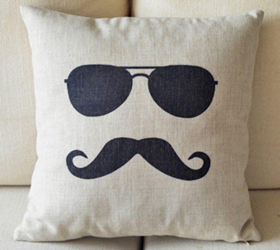 Mr. Moustache Pillow