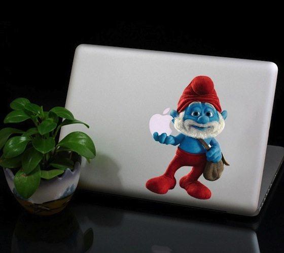 Papa+Smurf+Macbook+Decal