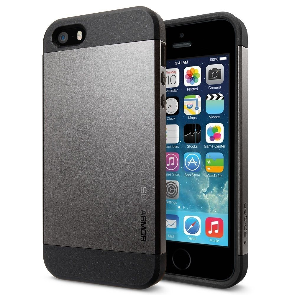 Spigen Slim Armor Series iPhone SE & 5S case protects it from impacts
