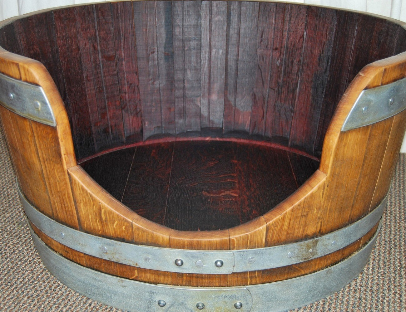 Wine Barrel Pet Bed By Wine Barrel Creations