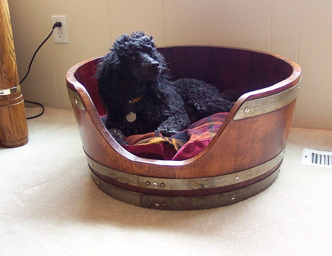 Wine Barrel Pet Bed By Wine Barrel Creations