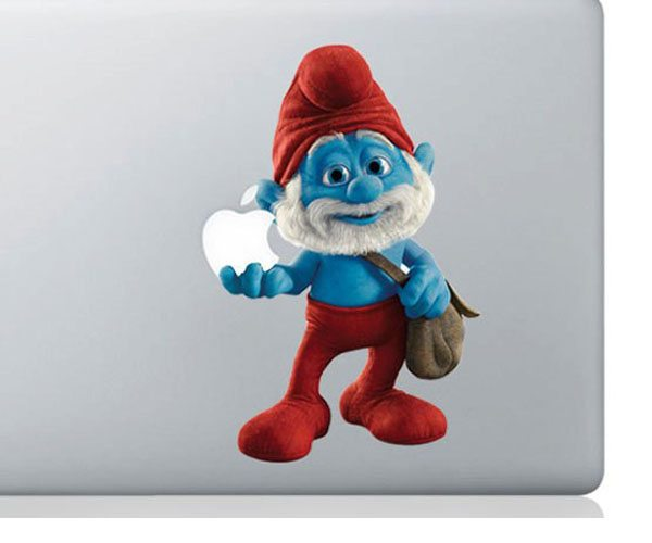 Papa Smurf Macbook Decal