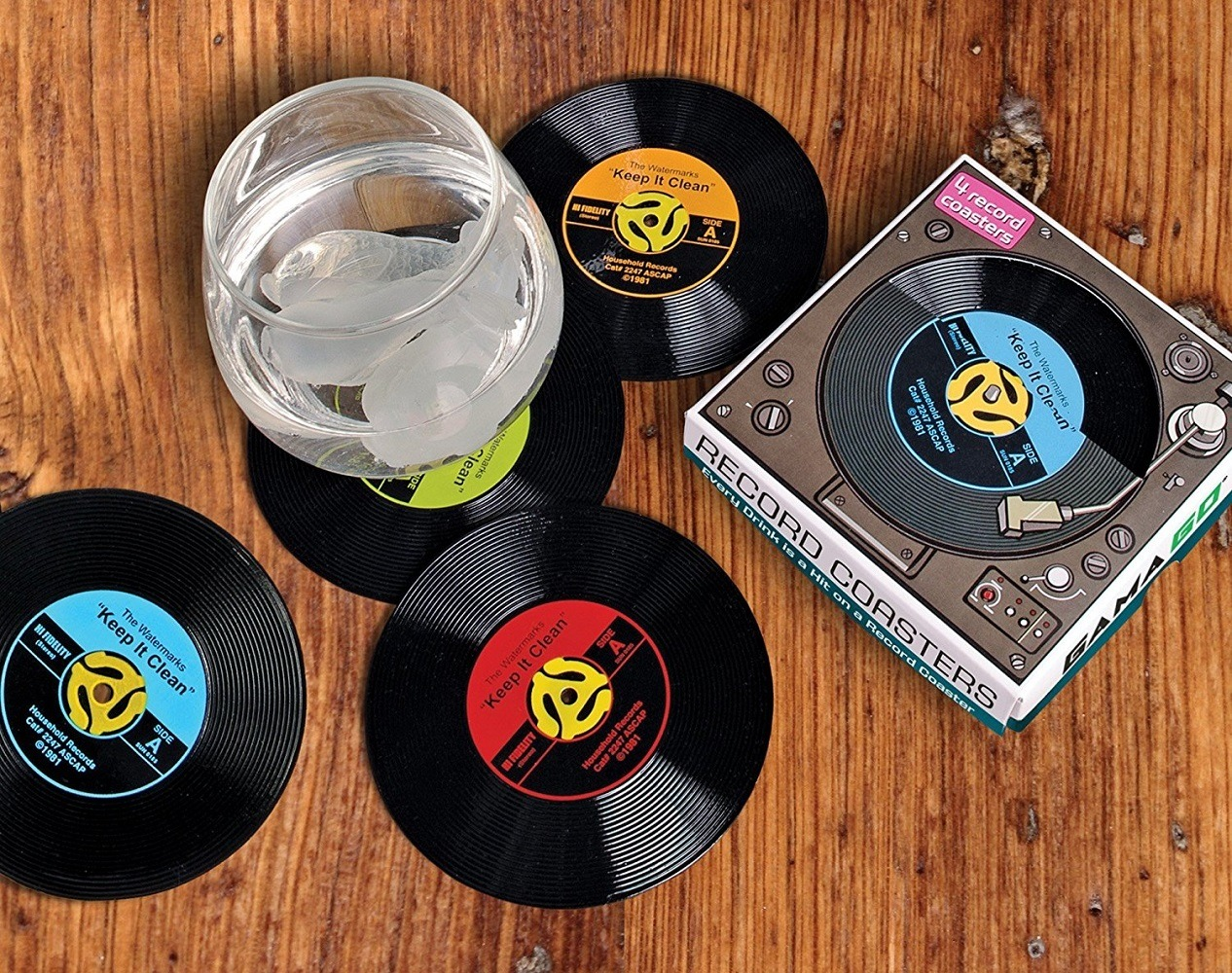 45+Record+Coasters+%28By+GAMAGO%29