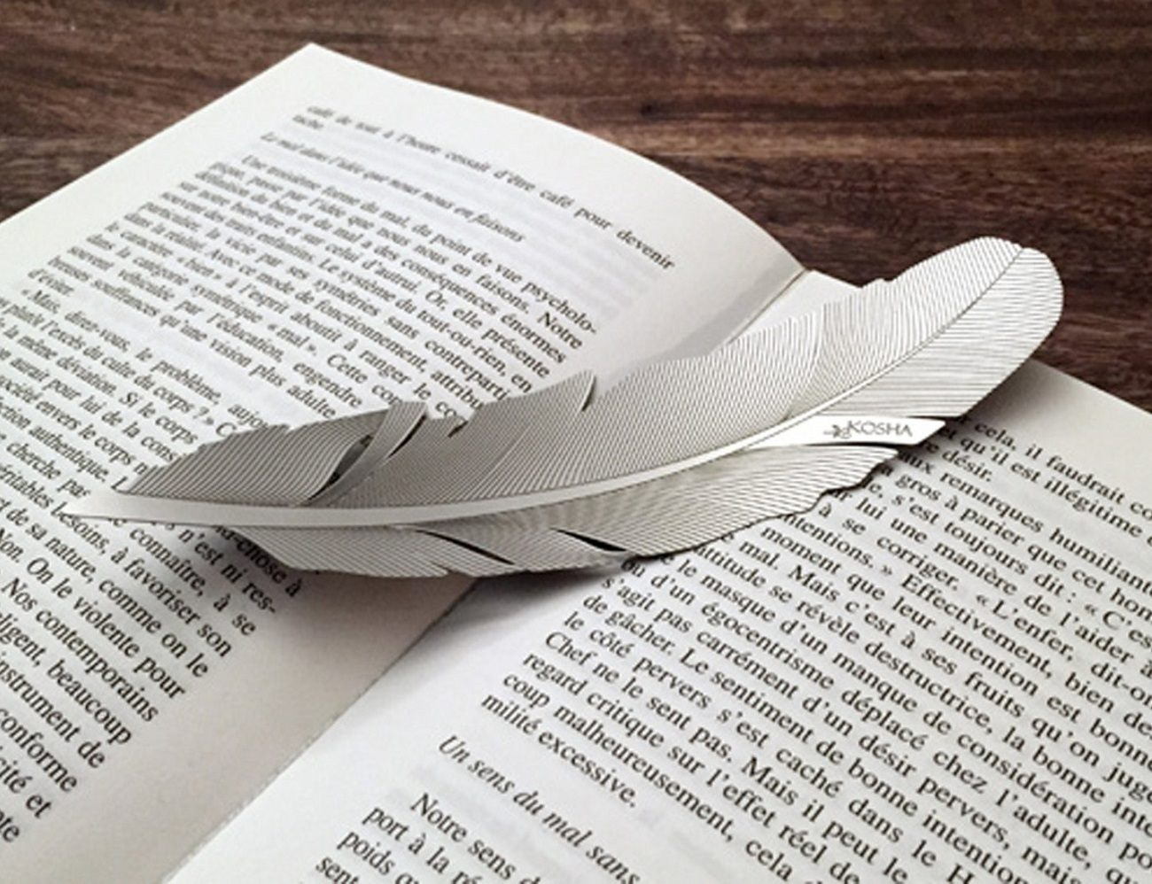 Feather Bookmark by Kosha
